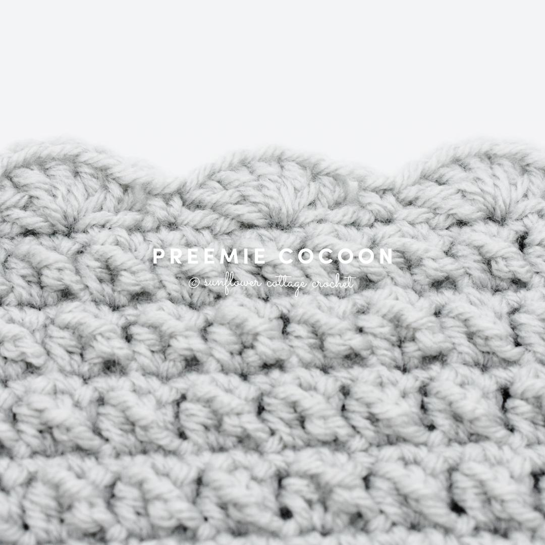 Wenona Preemie Cocoon | Preemie Crochet Challenge