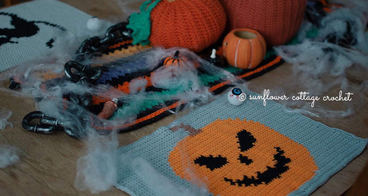 Halloween Pumpkin Placemat CAL 2021