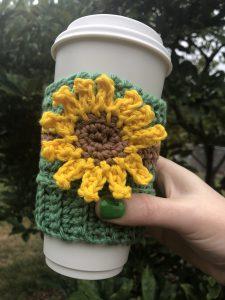Sunflower Coffee Beanie Cozy