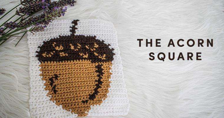 Acorn Square – Free 8″ Pattern